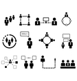 human resource set vector image vector image