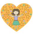 kids heart1 vector image vector image
