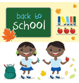 kids in school classwith school board With text vector image vector image