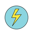 Lightning Icon in Flat Design vector image