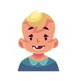 Little boy face smiling facial expression vector image vector image