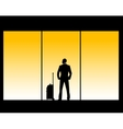 man in airport lounge vector image vector image