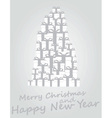 merry cristmas vector image vector image