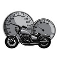 monochromatic motorbike rider abstract vector image