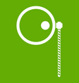 monocle icon green vector image