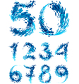 Numbers set splash vector image