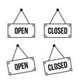 open and closed hanging plate vector image vector image