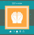 open hands icon vector image vector image