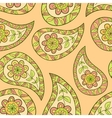 Orange summer paisley ethnic pattern vector image vector image
