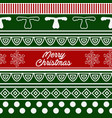 pattern of merry christmas vector image vector image