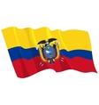 Political waving flag of ecuador vector image