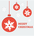 poster with christmas balls in flat syle vector image