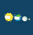 quarantine sun earth moon star vector image