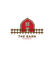 red barn logo design template vector image