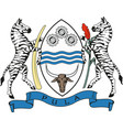 republic botswana coat arms vector image vector image