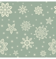 Retro Christmas pattern with white snowflakes on vector image