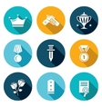 Reward Icons Set vector image vector image