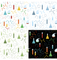 Seamless pattern of chemistry lab vector image vector image