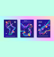 set of abstract multicolored design vector image vector image