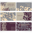 set of business cards designs vector image vector image