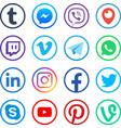 social media icons popular media web vector image vector image