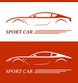 sports car coupe vehicle silhouette vector image