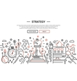 Strategy - line design website banner temlate vector image vector image
