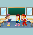 student in classroom vector image