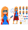 successful woman wearing superhero costume vector image vector image