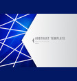 template abstract white geometric shape polygons vector image