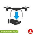 Unload Drone Hand Eps Icon vector image vector image