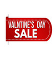 valentines day sale banner design vector image