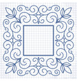 vintage linear frame vector image vector image