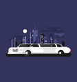 white limousine car vector image vector image