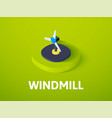 windmill isometric icon isolated on color vector image vector image
