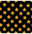 Yellow star on black seamless pattern vector image vector image