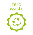 zero waste recycling sign icon modern vector image vector image