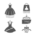 Fashion shop logos labels set vector image