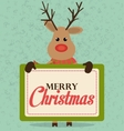 Merry christmas and happy new year card design vector image