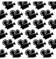 seamless pattern film cinema movie projector vector image