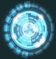 Abstract technology light blue background with vector image