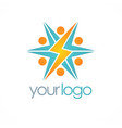 electric bolt logo vector image