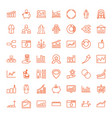 49 infographic icons vector image vector image