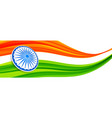 abstract creative style indian flag design vector image