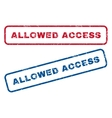 Allowed Access Rubber Stamps vector image vector image