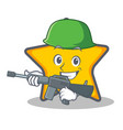 army star character cartoon style vector image vector image