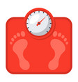 bathroom scales icon vector image vector image