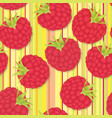 berry pattern raspberry seamless background food vector image vector image
