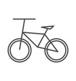 bike icon outline on white background vector image vector image