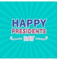 Blue sunburst with ray of light Presidents Day vector image vector image